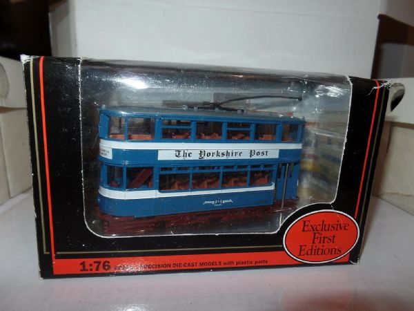 EFE 14301 Leeds Horsfield Trolley Pole Tram Blue Yorkshire Evening Post MIMB